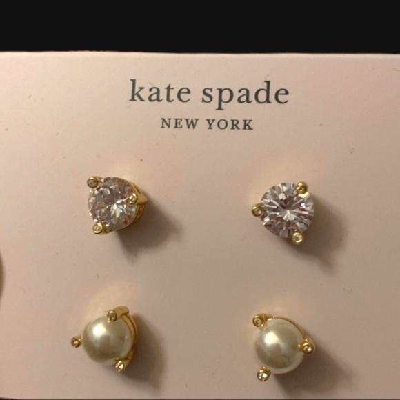 KATE SPADE PEARL/CUBIC ZIRCONIA PR OF EARRINGS